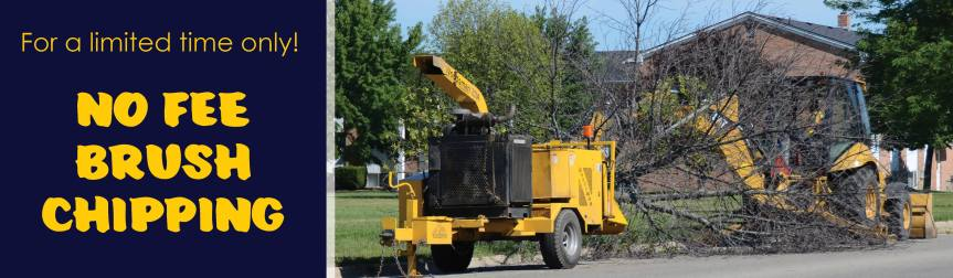 City offering no fee brush chipping –                  WE ARE NO LONGER ACCEPTING RESERVATIONS, THE SCHEDULE IS FULL as of9/12/18.
