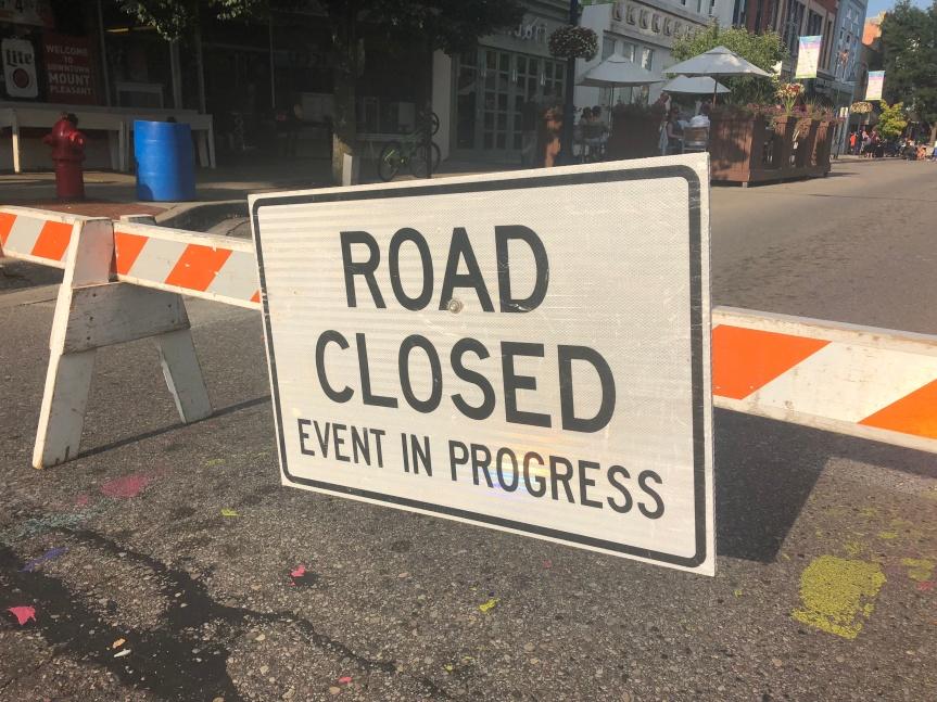 Special event road closures;             October 13-14,2018