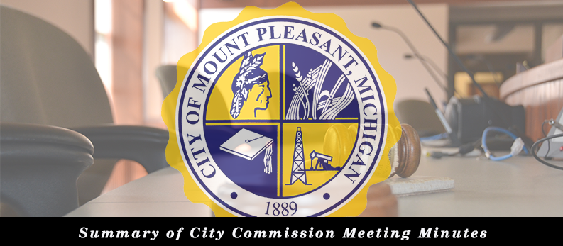 Summary of minutes of the regular meeting of the City Commission held November 26, 2018
