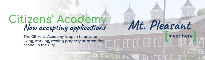 City to hold fourth Citizens' Academy of Mt. Pleasant; now accepting applications