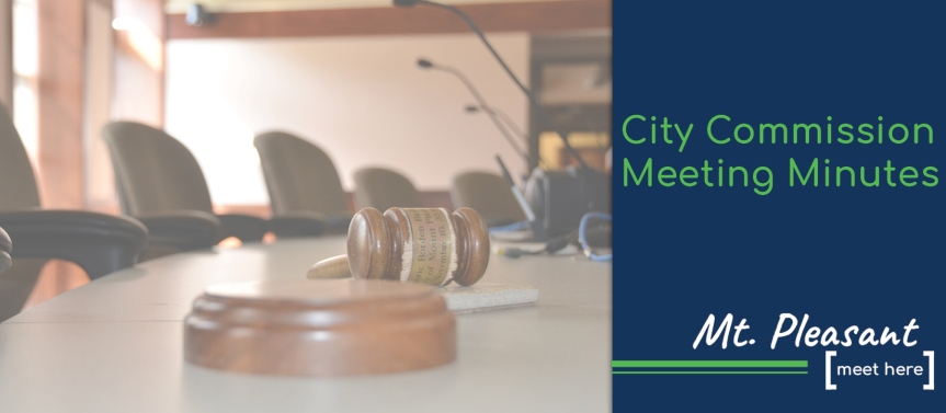 Summary of Minutes of the Mt. Pleasant City Commission Meeting – September 14, 2020