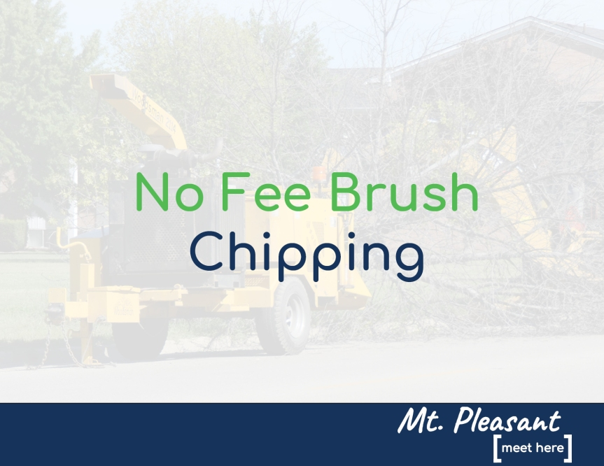 City to offer no fee brush chipping (All slots filled as of 9:00 a.m. on 9/18)