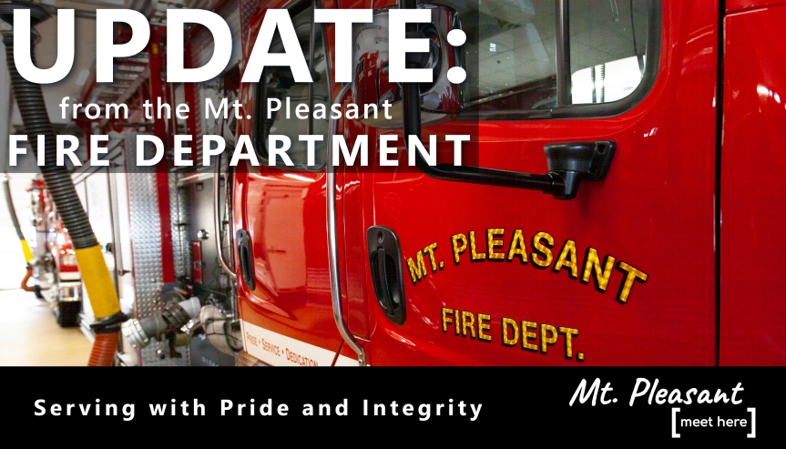 Mt. Pleasant Fire Department responds to trailer fire – 505 S. Bradley Street