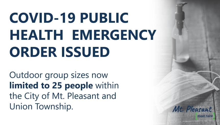 Central Michigan District Health Department Issues Public Health Emergency Order (Updated10/7/2020)