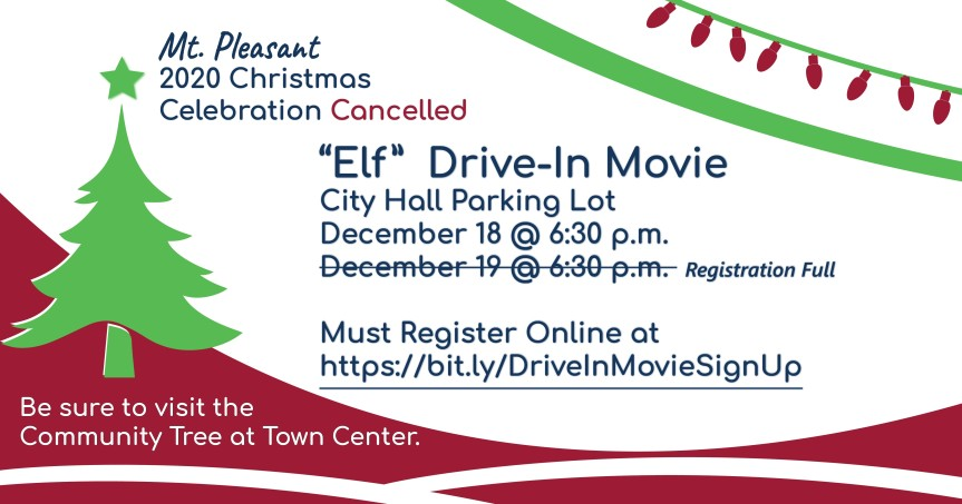 Mt. Pleasant Christmas Celebration Cancelled (Updated 11/20 and 11/24/2020)