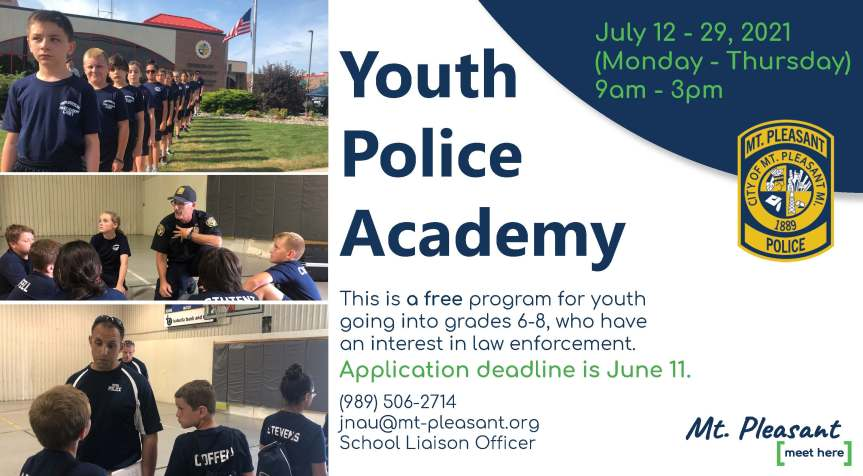 Accepting Applications for 20th Youth Services Police Academy