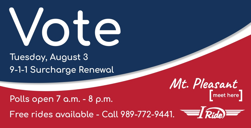 9-1-1 Surcharge Renewal Election Scheduled for August3