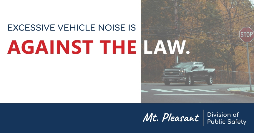 Excessive Vehicle Noise is Illegal – A Message from Director of Public Safety PaulLauria